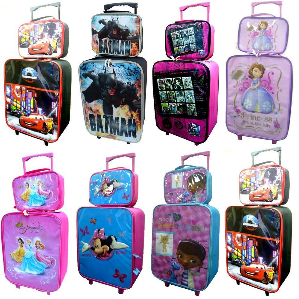 DISNEY KIDS BOYS GIRLS CABIN TROLLEY CASE SET WHEELED BAG ...