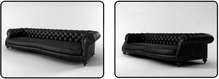 ledersofa big sofa 2 5m 3m chesterfield sofort lieferbar design sofa englisch ebay. Black Bedroom Furniture Sets. Home Design Ideas