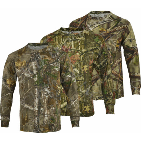 img-Mens Jungle Print Camouflage Army Combat Long Sleeve T Shirt Fishing Hunt S-5XL