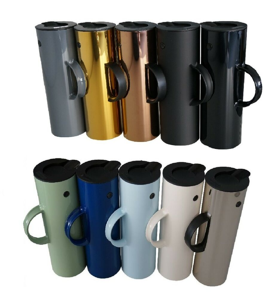 stelton isolierkanne em77 design klassiker kaffee kanne thermoskanne beh lter 1l ebay. Black Bedroom Furniture Sets. Home Design Ideas