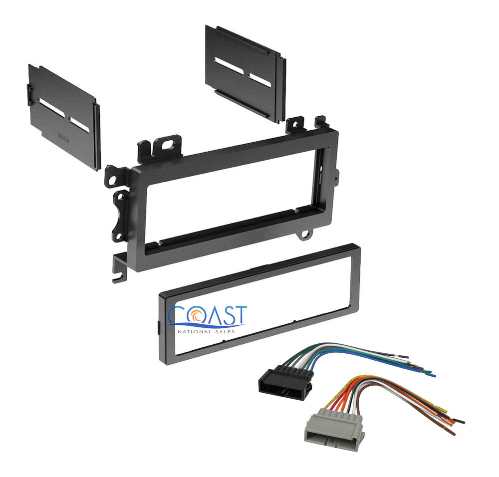 single din install car stereo dash kit w  harness for 1984