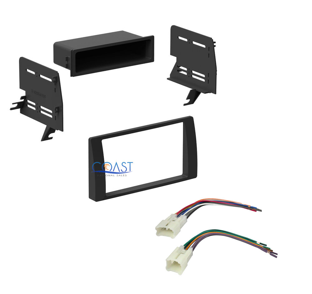 single double din stereo install dash kit w harness for. Black Bedroom Furniture Sets. Home Design Ideas