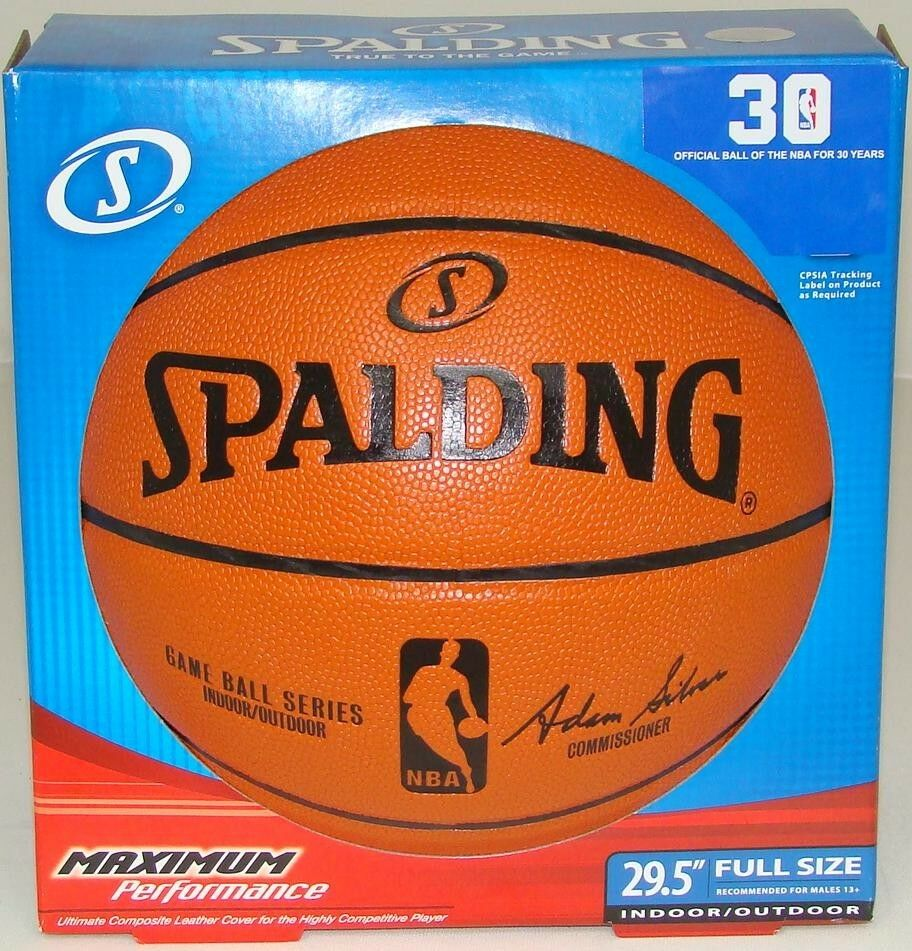 NEW SPALDING REPLICA NBA OFFICIAL SIZE BASKETBALL | eBay
