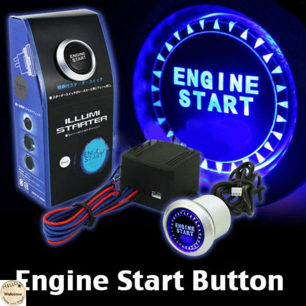 Push To Start Button Ignition: Universal 12V Car Engine Start Push Button Switch Ignition