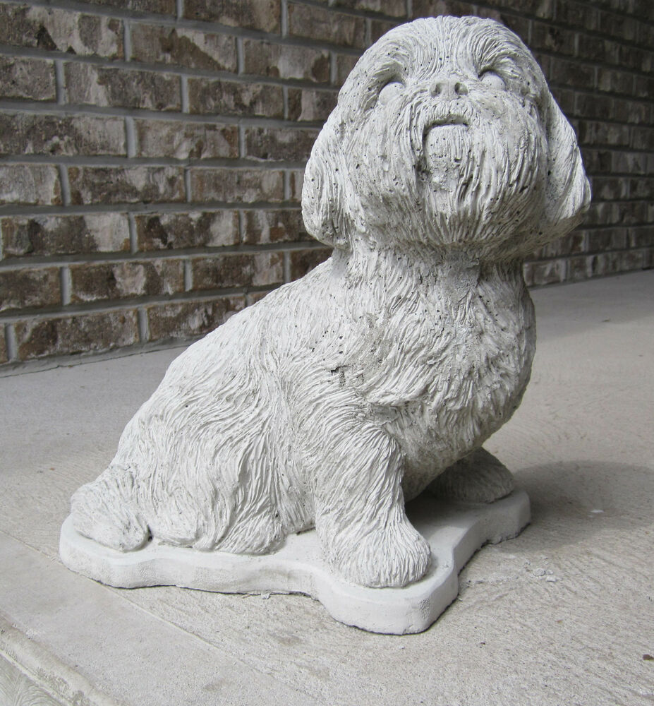 shih tzu statue life size concrete shih tzu statue or use as a monument 9702