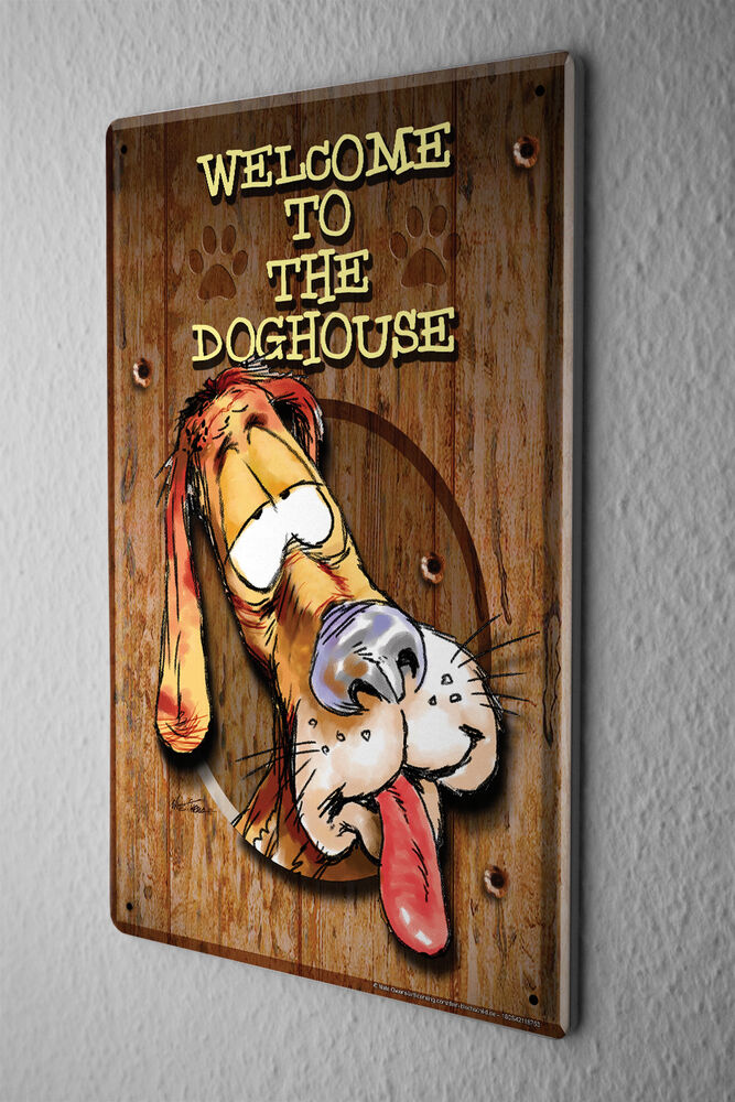 decorative tin sign funny signs welcome to the dog house dog house finishes dog house findlay