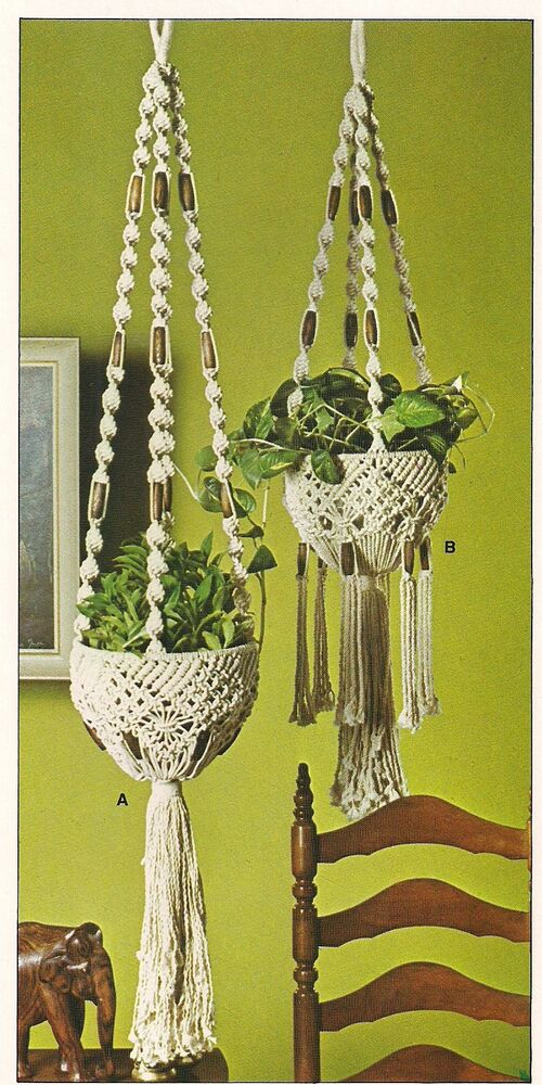 macrame plant hanger pattern free macrame beaded plant hanger patterns craft book opus2 2946