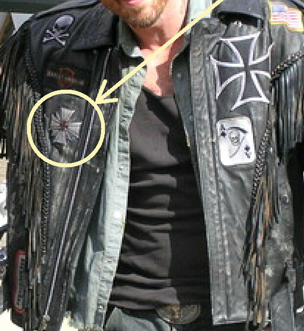 As Seen Movie Wild Hogs Biker Gang Leather Jacket Chest