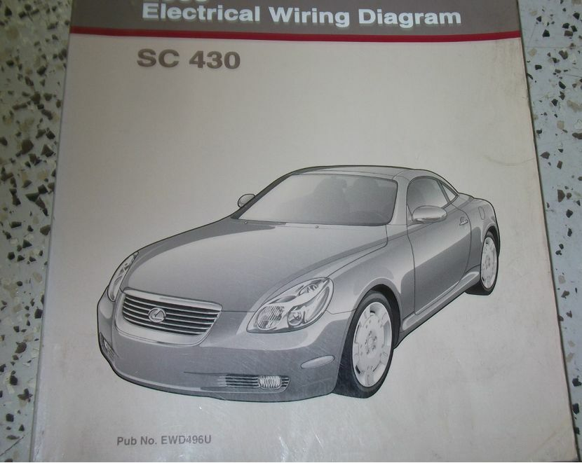 2002 Lexus Sc430 Sc 430 Electrical Wiring Diagram Service