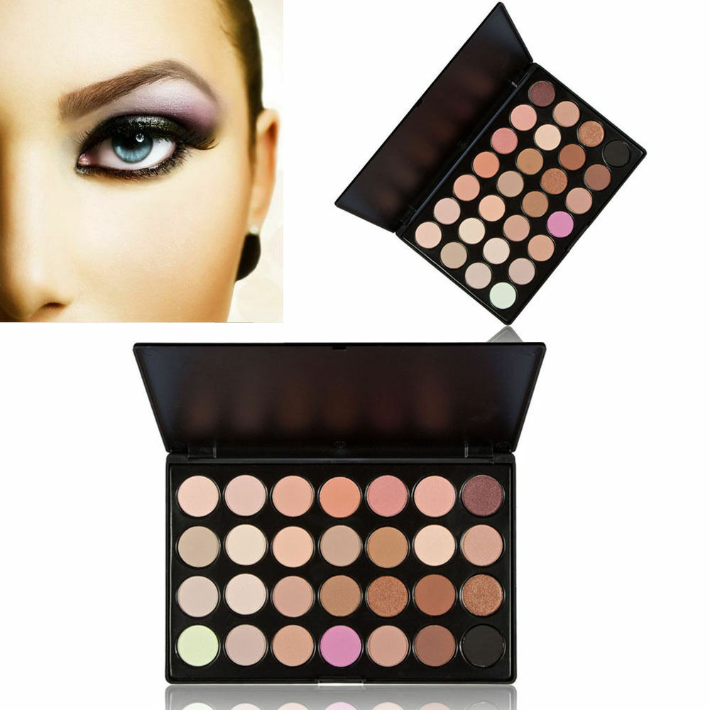 New Professional 28 Color Neutral Warm Eyeshadow Palette ...