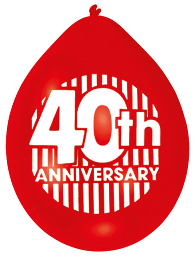Happy 40th anniversary balloons ruby wedding party for Decoration 40th anniversary