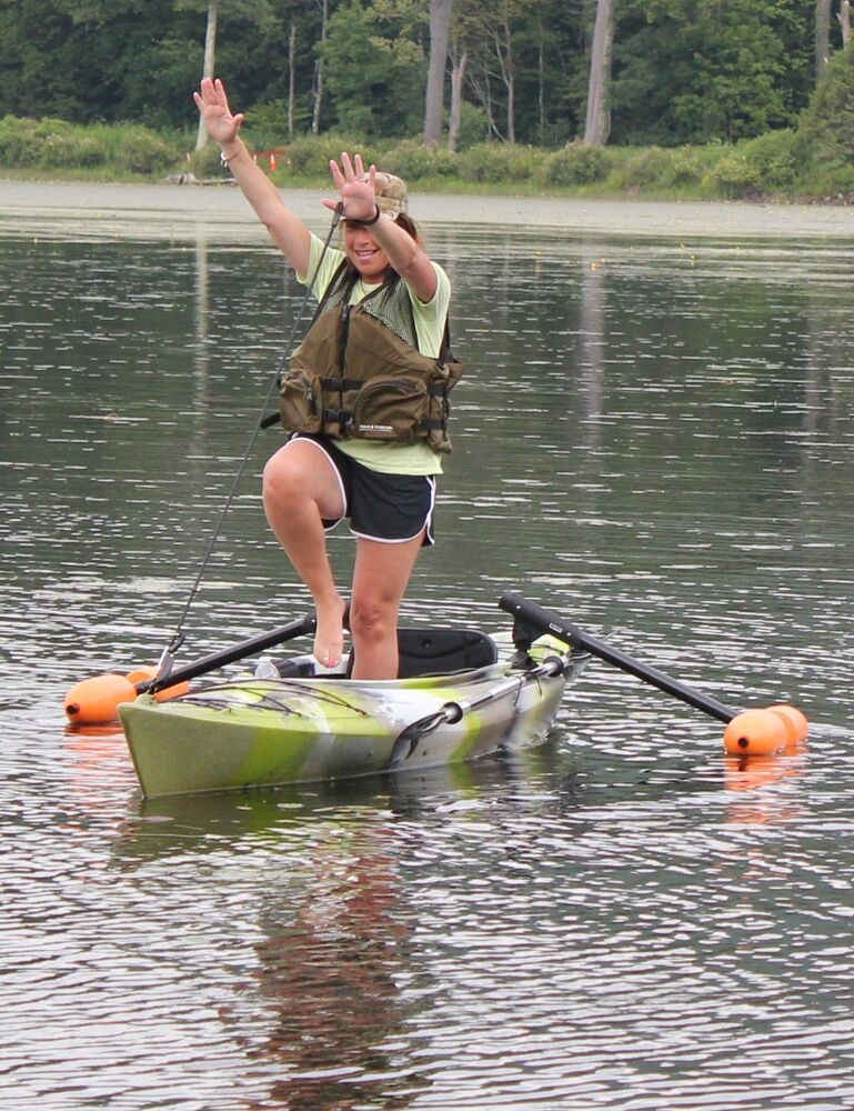 Kayak or canoe outriggers stabilizers for sight fishing for Best fishing canoe