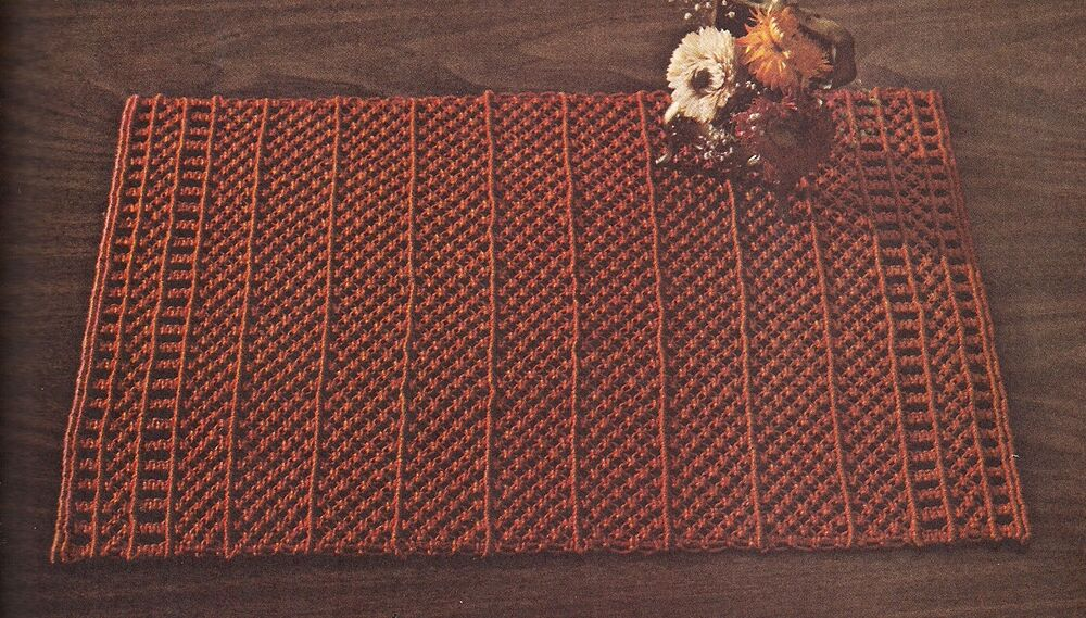 macrame rugs 1970s vintage decorative rug patterns craft book 42005 1324