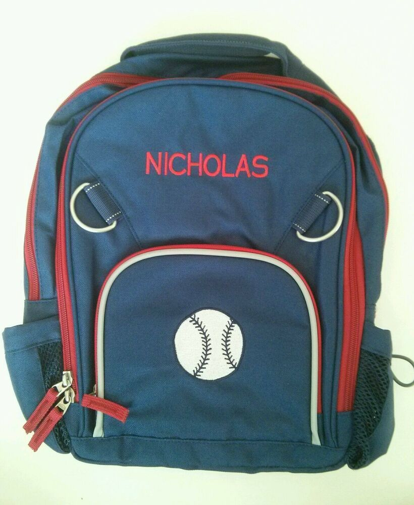 Pottery Barn Kids Small Fairfax Navy Blue Red Baseball
