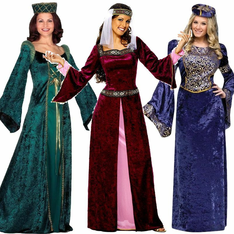 Renaissance Dress Plus Size: Ladies Renaissance Medieval Banquet Fancy Dress Costume