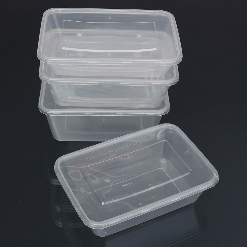 1 25x Plastic Containers Tubs Clear With Lids Microwave