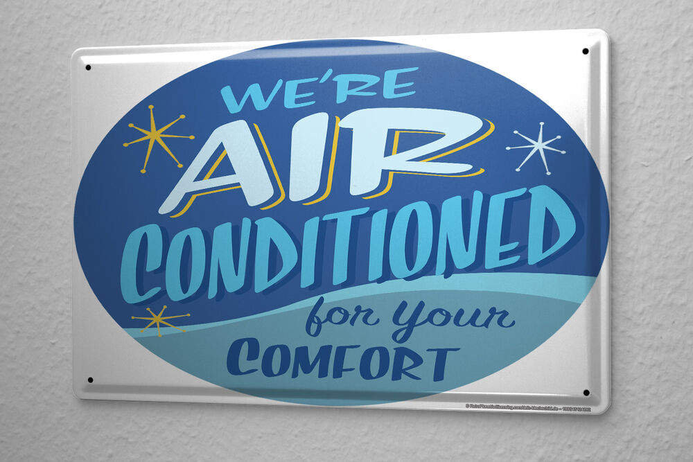 Fun Tin Sign Wall Decor Air Conditioning For You Ebay