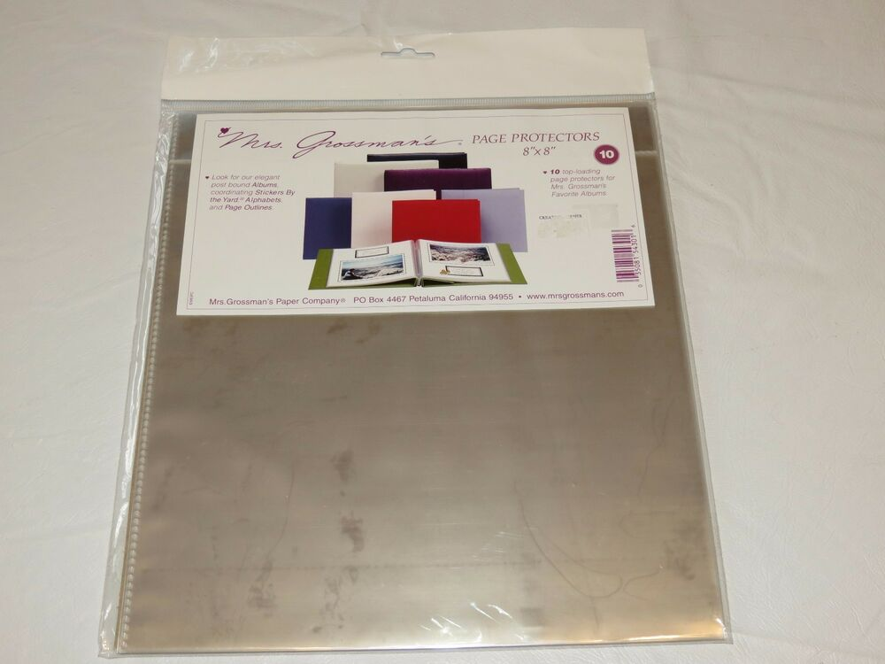 Mrs grossman 39 s page protectors scrapbook 8 x 8 10 top for American crafts page protectors 8x8