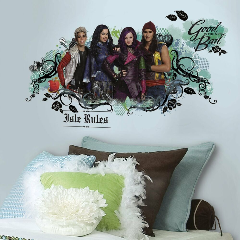 Disney Descendants Isle Of The Lost Wall Decals Room Decor