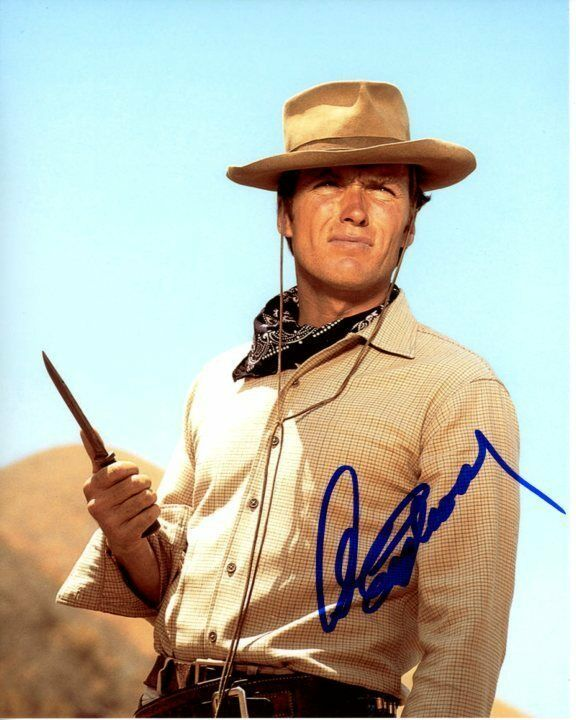 CLINT EASTWOOD signed autographed RAWHIDE ROWDY YATES ...