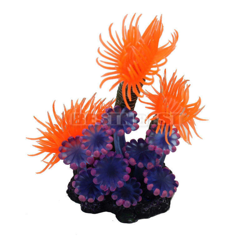 Colorful artificial sea coral reef resin ornament for fish for Artificial coral reef aquarium decoration