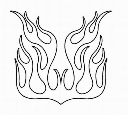 auto flames coloring pages - photo#42