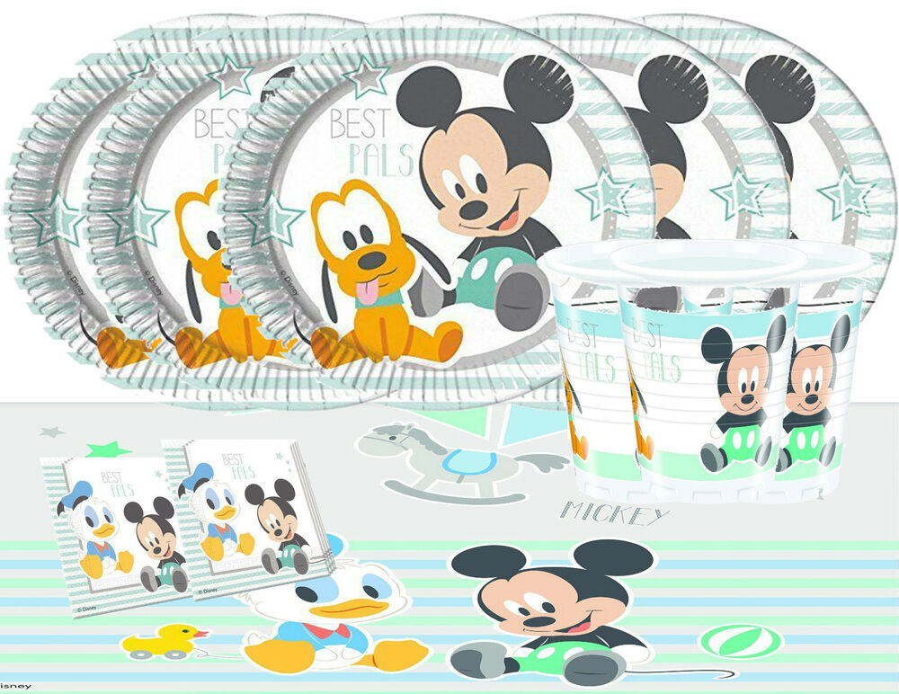 baby mickey mouse party tableware pack for 16 kids