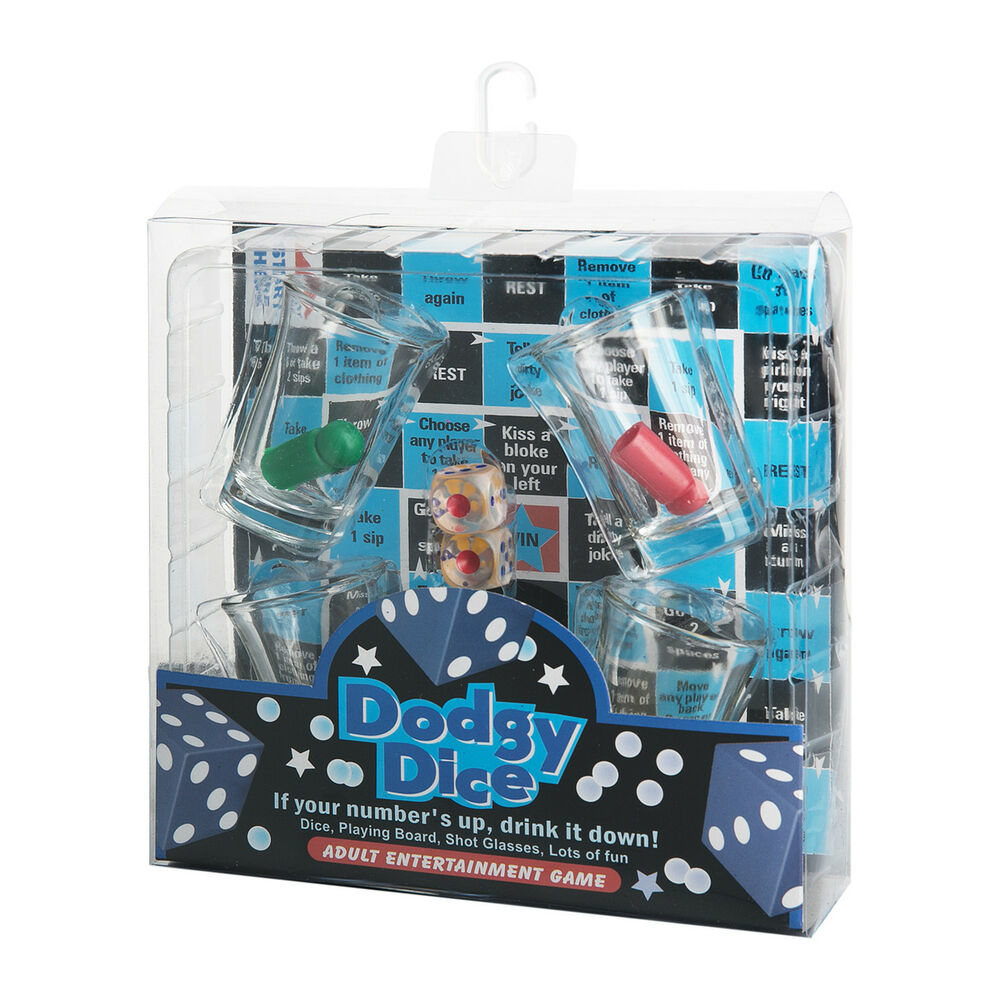 Fun bar dodgy dice drinking game party man cave board game for Food bar drinking game