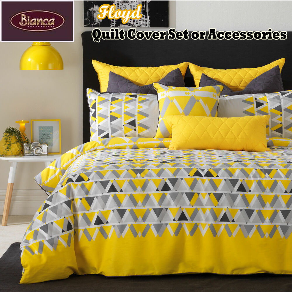 Floyd Yellow Quilt Cover Set Or Accessories Single Double