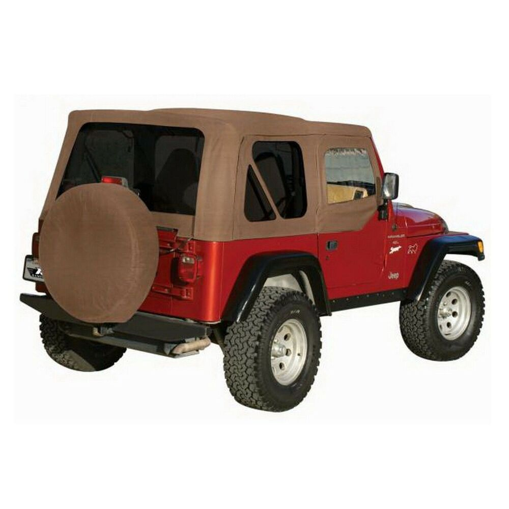 Jeep Wrangler Replacement Soft Top >> Rampage 99536 Khaki Rplcmnt Soft Top w/Tint for TJ/Wrangler w/Soft Upper Doors | eBay