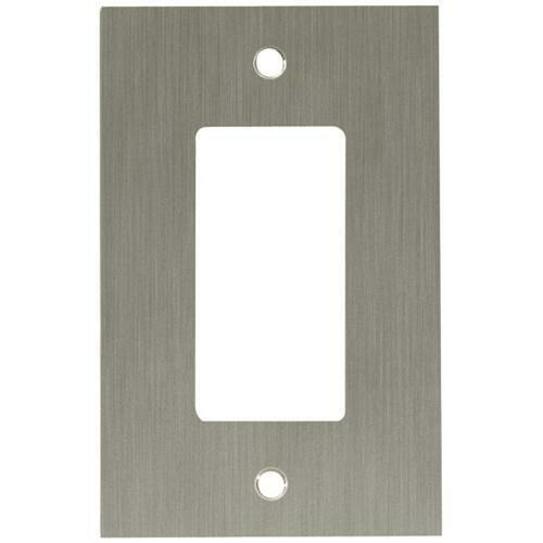 64931 brushed nickel concave single gfci cover wall plate ebay. Black Bedroom Furniture Sets. Home Design Ideas