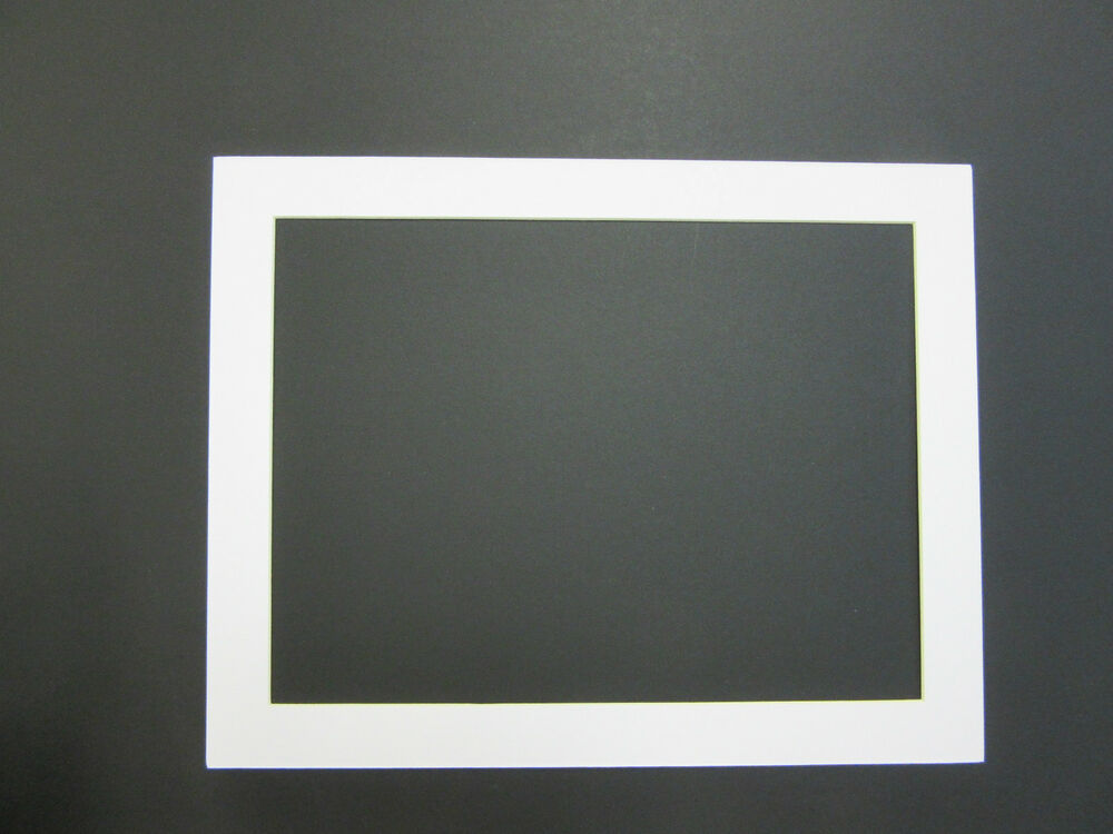 Picture Framing Mats 11x14 For 9x12 Photo White Rectangle