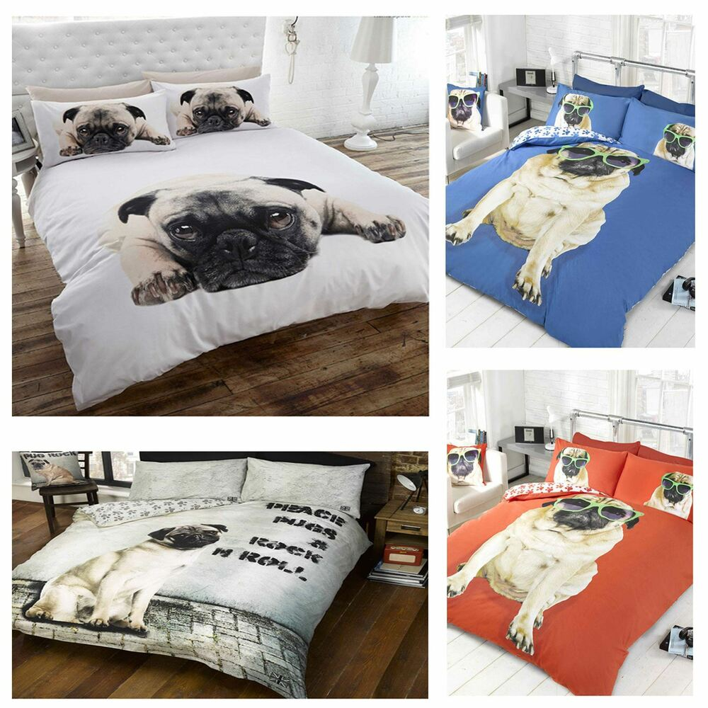 PUG DESIGN DUVET COVER SETS IN SINGLE AND DOUBLE KIDS
