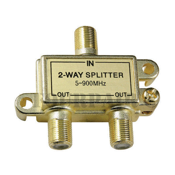 Digital Cable Tv Splitters : Way coax video splitter digital hd cable tv f type rg