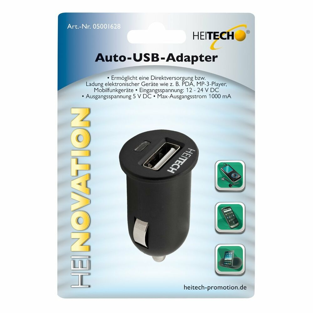 heitech auto usb adapter multifunktionsadapter. Black Bedroom Furniture Sets. Home Design Ideas