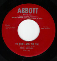 Rare Country 45- Herb Henson - The Birds And The Bees - Abbott 179 - Mint Minus