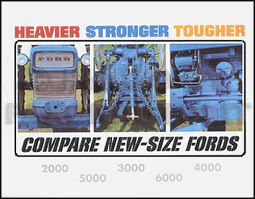 1968 Ford 2000 Diesel Tractor : Ford tractor color sales brochure