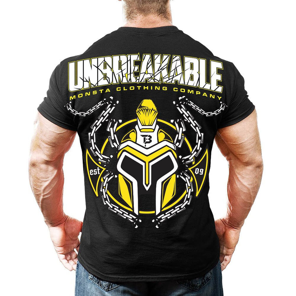 Monsta clothing bodybuilding gym unbreakable graphic ultra Fitness shirts for men