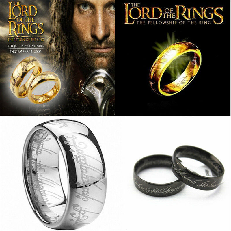 Men's Lord of the Rings The One Ring Lotr Titanium Steel ...
