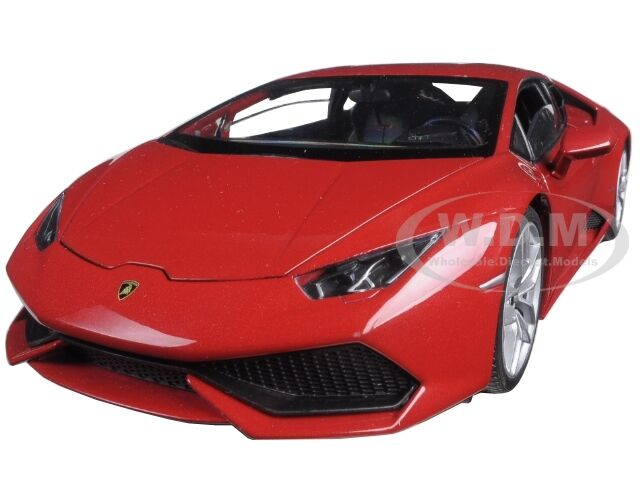 lamborghini huracan lp 610 4 red 1 18 diecast model car by welly 18049 ebay. Black Bedroom Furniture Sets. Home Design Ideas