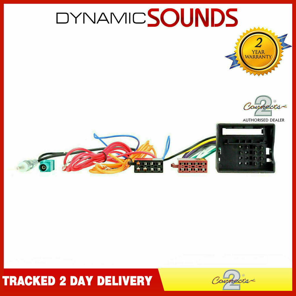 Ct20vw02 Radio Wiring Harness With Aerial For Vw Golf Mk5 Eos Fox Passat Polo