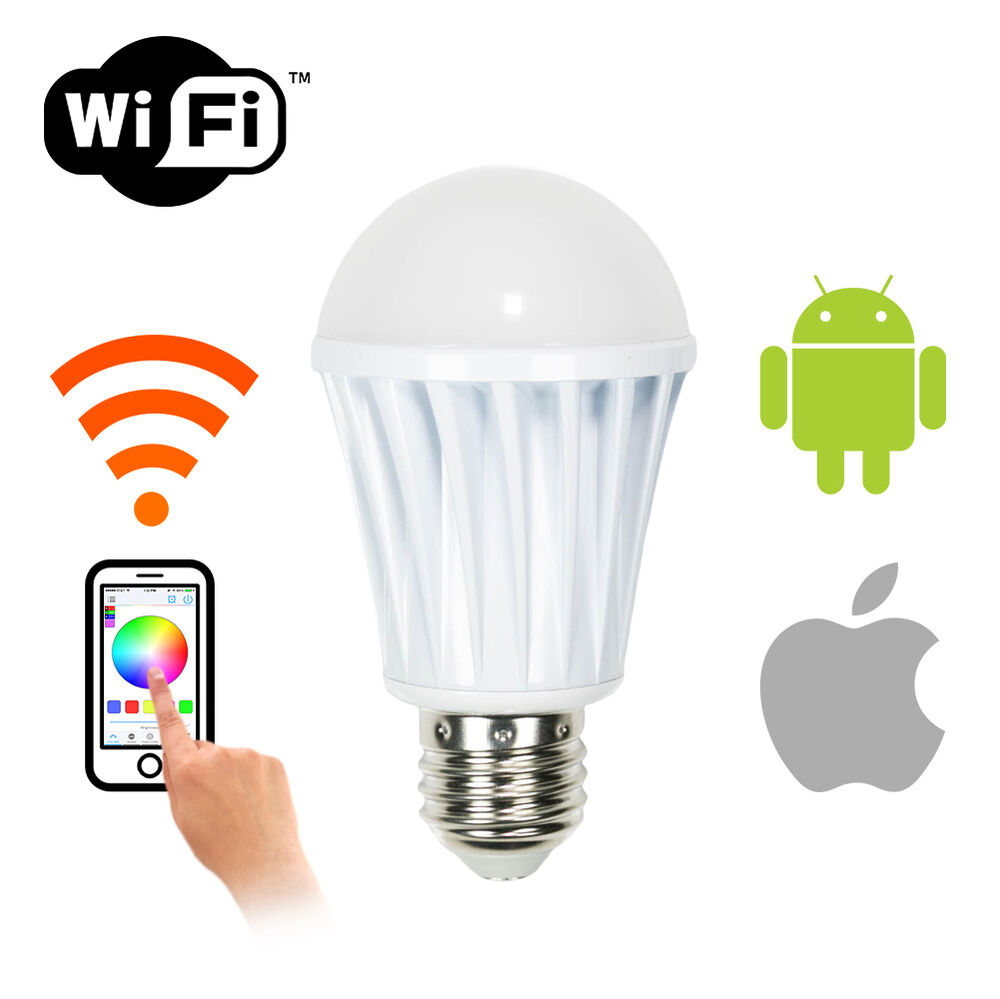 wifi smart led dimmable light bulb app controlled multi. Black Bedroom Furniture Sets. Home Design Ideas