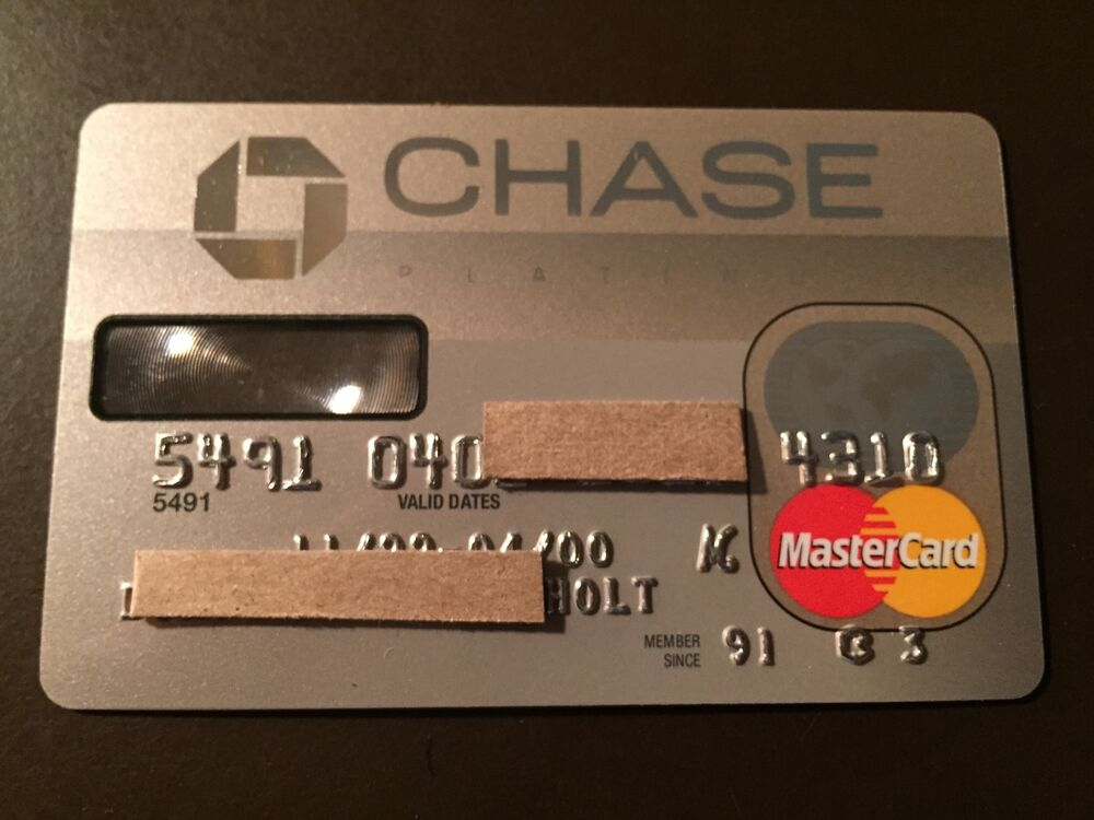 Chase Manhattan Bank 2000 Vintage Collectors MasterCard ...