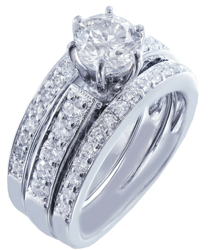 18k cut engagement ring and band antique style deco 1 50ctw ebay