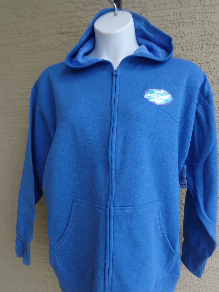 30d211fc447 Details about New Just My Size 4X Eco Smart Sweats Zip Front Hooded  Sweatshirt Heather Blue