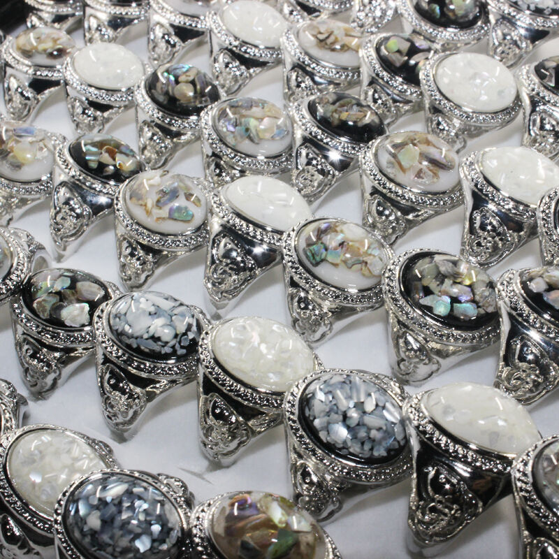 Jewelry Silver Plated Wholesale Lot 30pcs Gemstone Shells ...