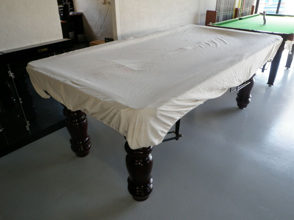 Pool Snooker Billiard Table Cover (Fitted CALICO) 9' x 4'6 ...