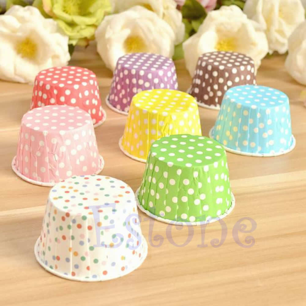 Paper Cupcake Cups : Pcs paper cake cup cupcake wrapper cases muffin baking