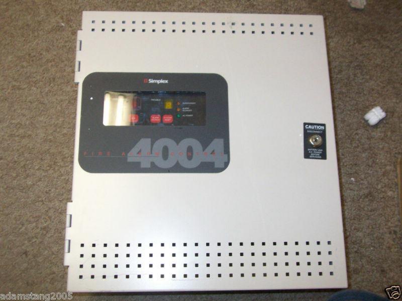 Simplex fire alarm Control panel 4006 Owners Manual