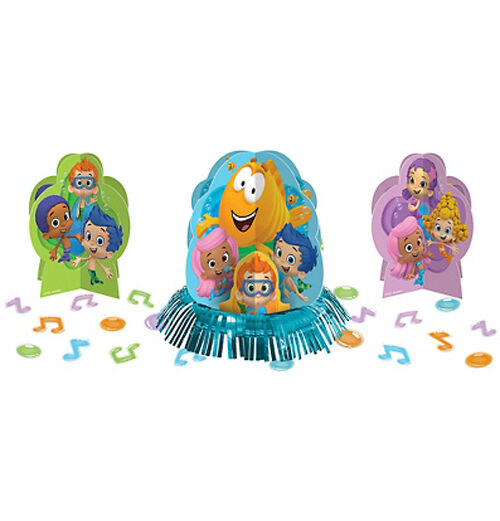 Bubble guppies table decorating kit 23pc birthday party supplies centerpiece ebay - Bubble guppies center pieces ...
